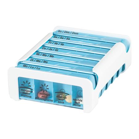 Anabox Pilulier semaine 7 jours COMPACT, 4 cases par jour