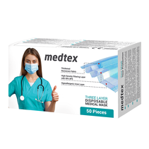 Masque médical jetable Type IIR, lot de 50 pcs