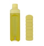 YOS Bottle Bouteille d'eau et pilulier, 1 semaine, 7 cases