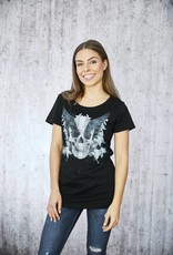 Girls Shirt black Wings flat