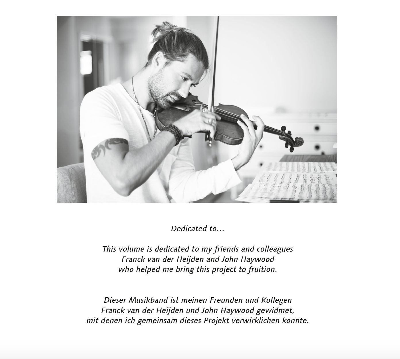 """music notes """"Best Of Violin David Garrett"""""""