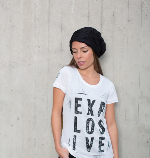 Girls shortsleeve Shirt Explosive white