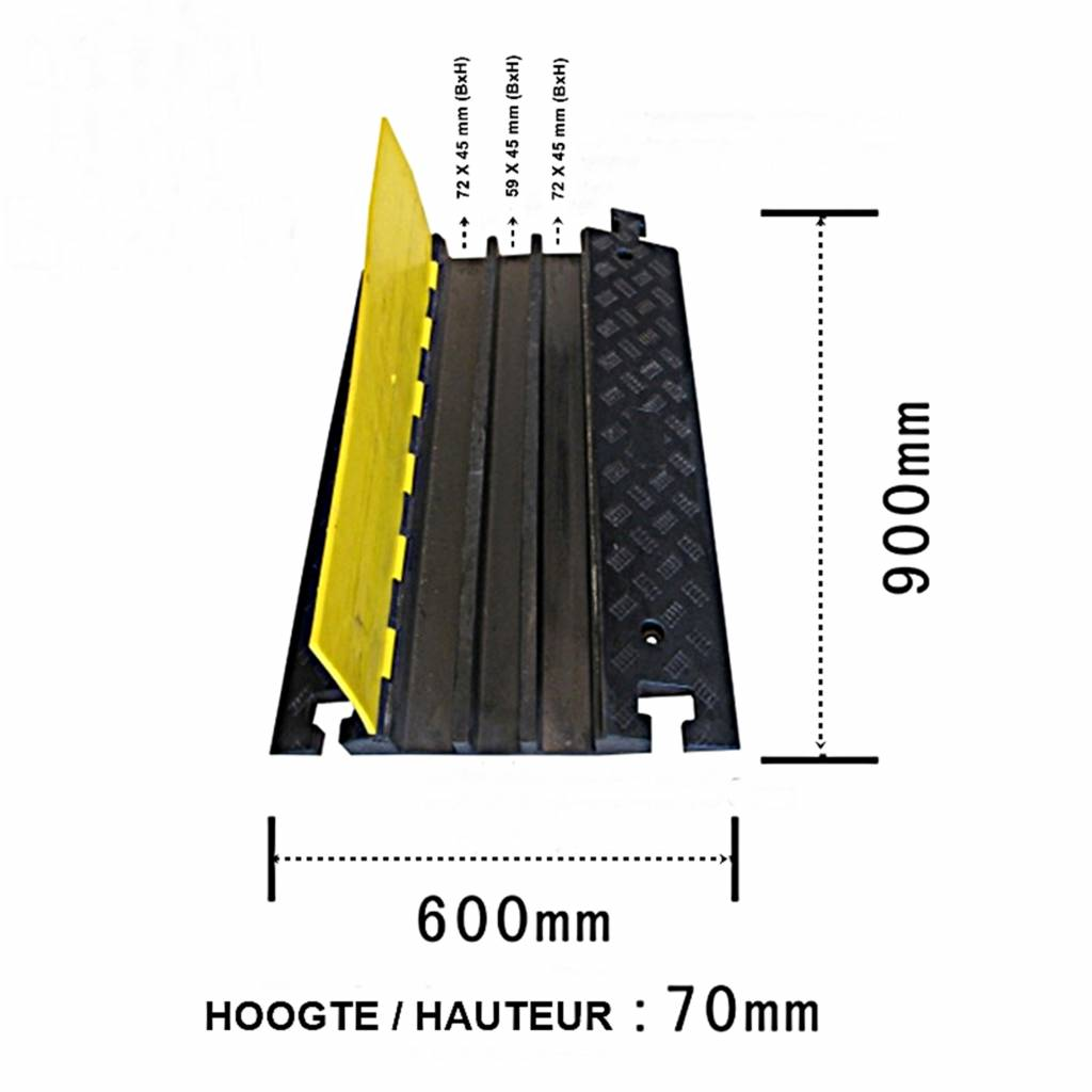 Passe-câble BUDGET - 3 canaux