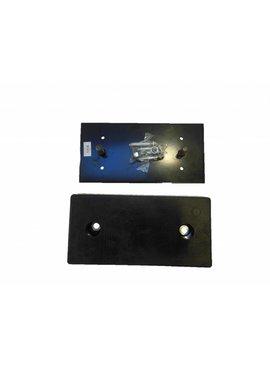 Fixatieplaat rubbere stootblok bescherming