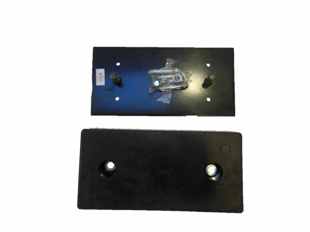 Plaque de fixation butoir caoutchouc 500 x 250 x 10 mm