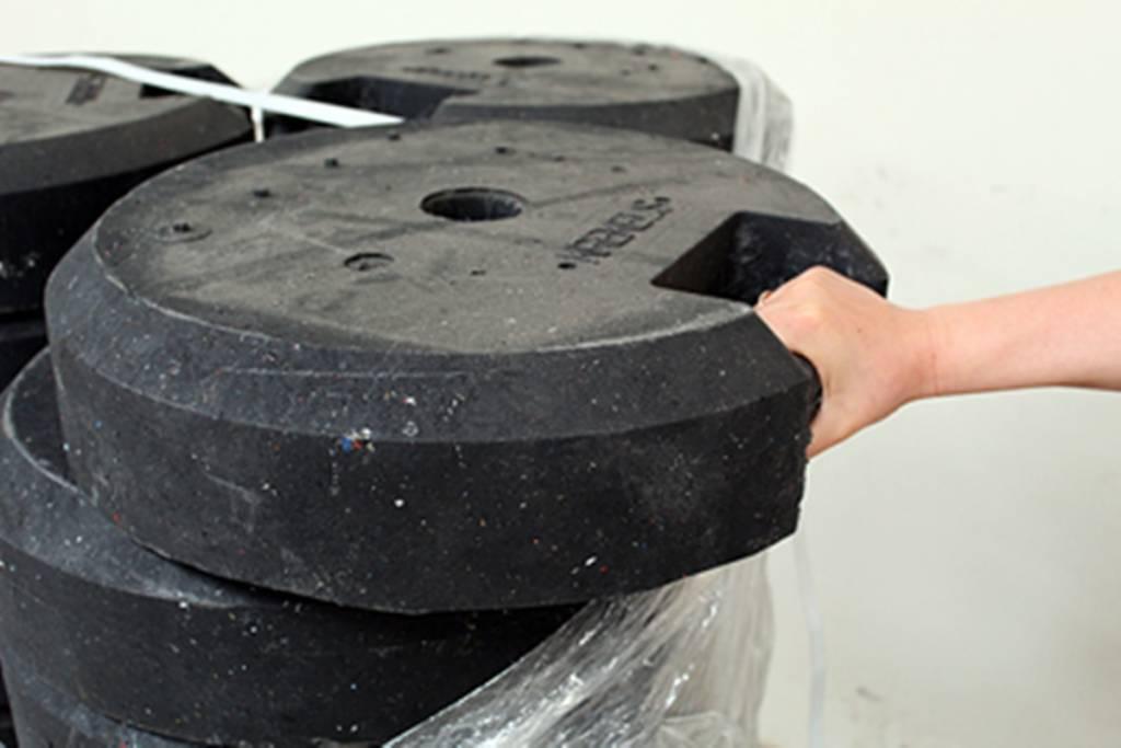 Socle rond  en PVC recyclé 25 kg