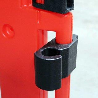 Safety barrier 'Clearpath' in orange polyethylene