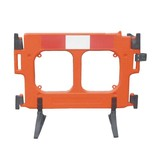 Safety barrier 'Clearpath' in orange polyethylene
