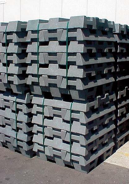 Voet voor bouwhekken - 16 kg