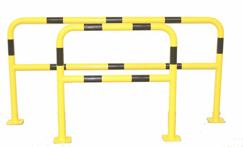 Steel protection barrier with crossbar - Ø 60 mm