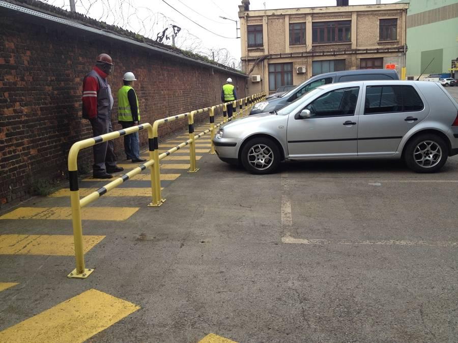 Barrière de protection en acier avec traverse - Ø 60 mm