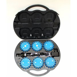 Case with 6  blue LED rotorlights