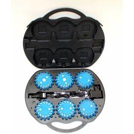 Coffre avec 6 rotorlights LED bleu