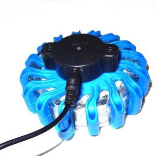 16 LED waarschuwingslamp - blauw - oplaadbaar