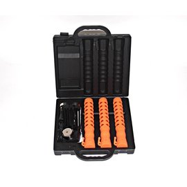 Case with 3 LED traffic batons - orange or blue