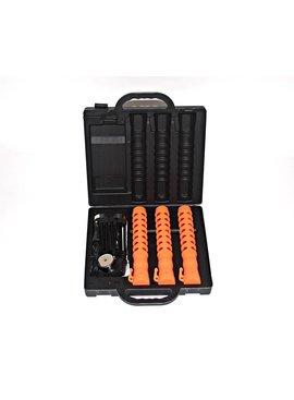 Coffret à 3 batons de police lumineux - orange ou bleu