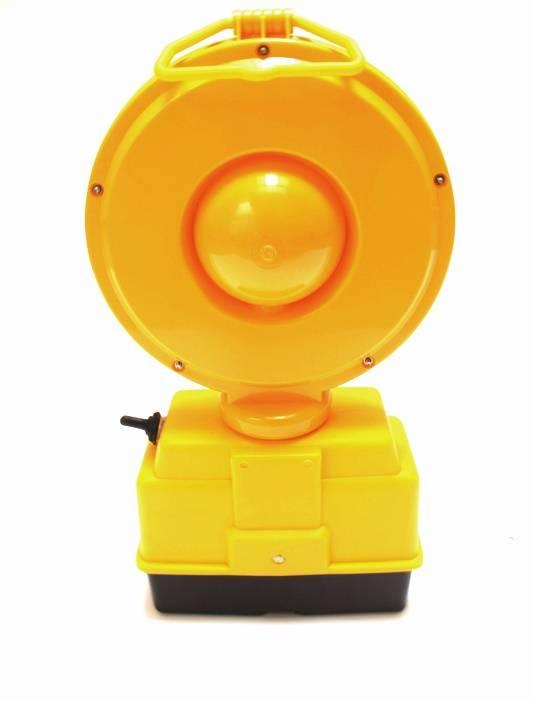 Lampe de chantier STARFLASH 2000 - simple face -  jaune