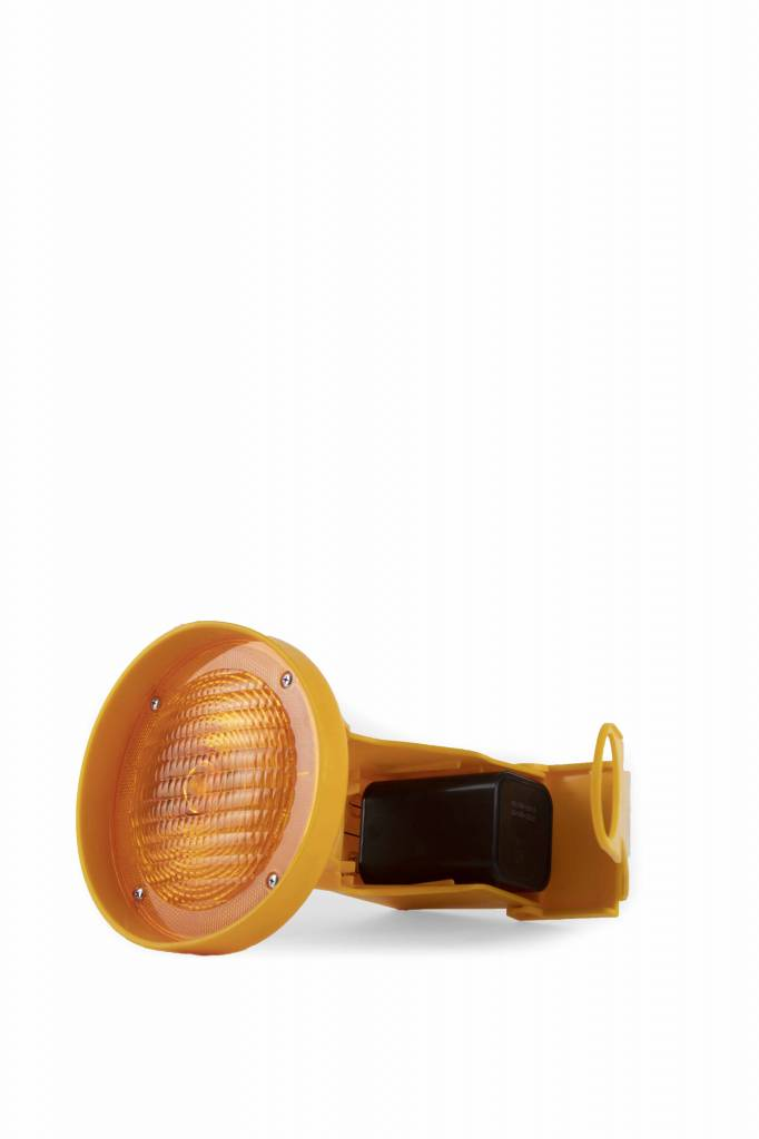 STAR Lampe de chantier CONESTAR 1000 pour cônes - Jaune ( batterie excl. )