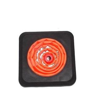 Cône de signalisation pliable lesté avec LED intégrée