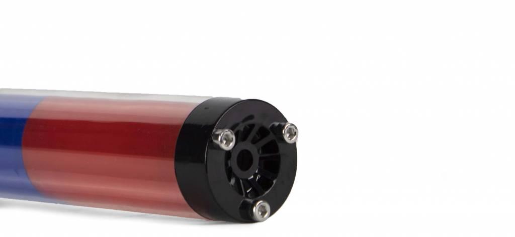 LED toortslamp - blauw/rood - oplaadbaar en multifunctioneel