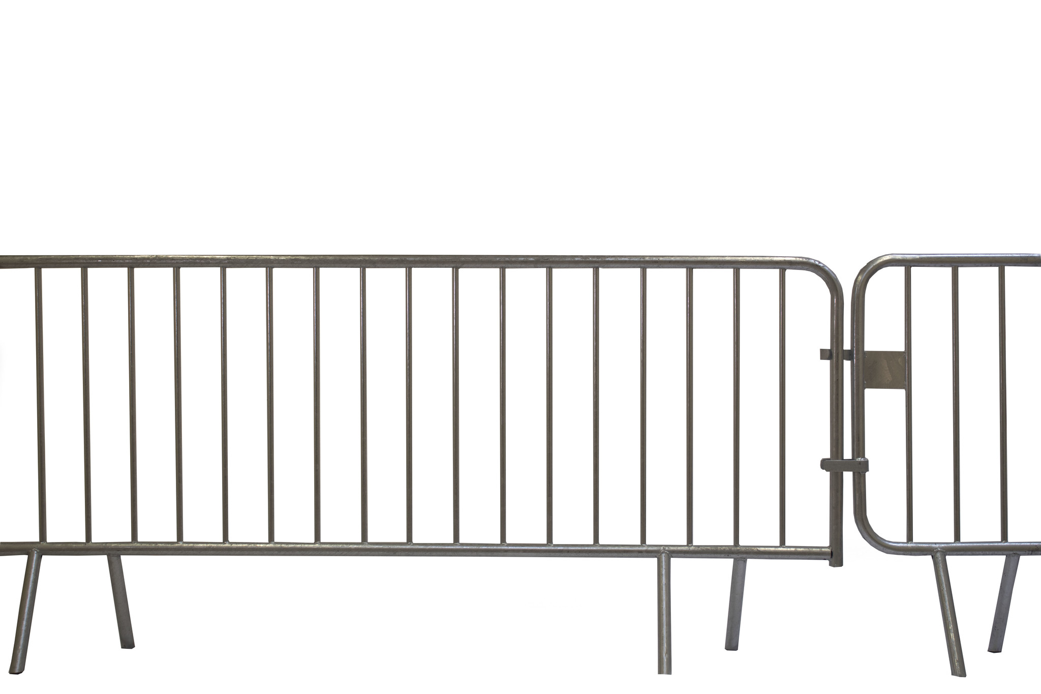 Crowd control barrier/Police barrier 14 bars - 200 x 110 cm