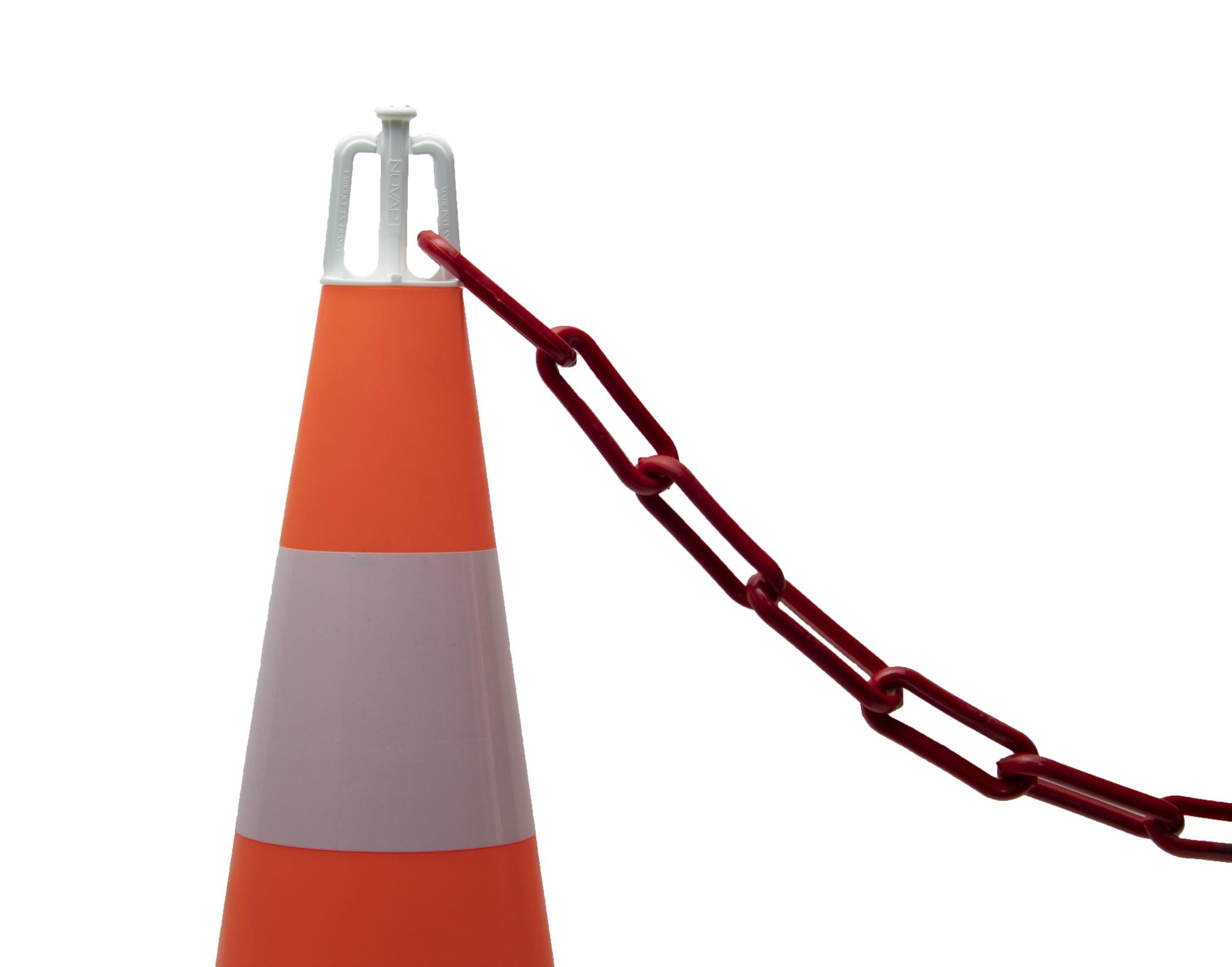 Set 5 Traffic cones (50 cm) and 7.5 m plastic chain (Ø 8mm)