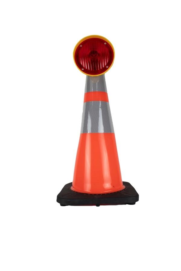 STAR Lampe de chantier CONESTAR 1000 pour cônes - Rouge ( batterie excl. )