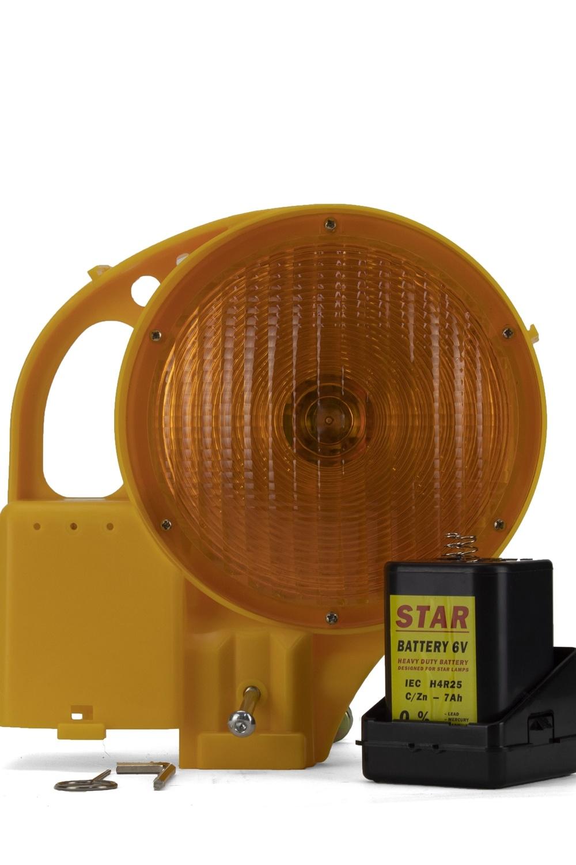 STAR Werflamp STAR 8000 - enkelzijdig - geel