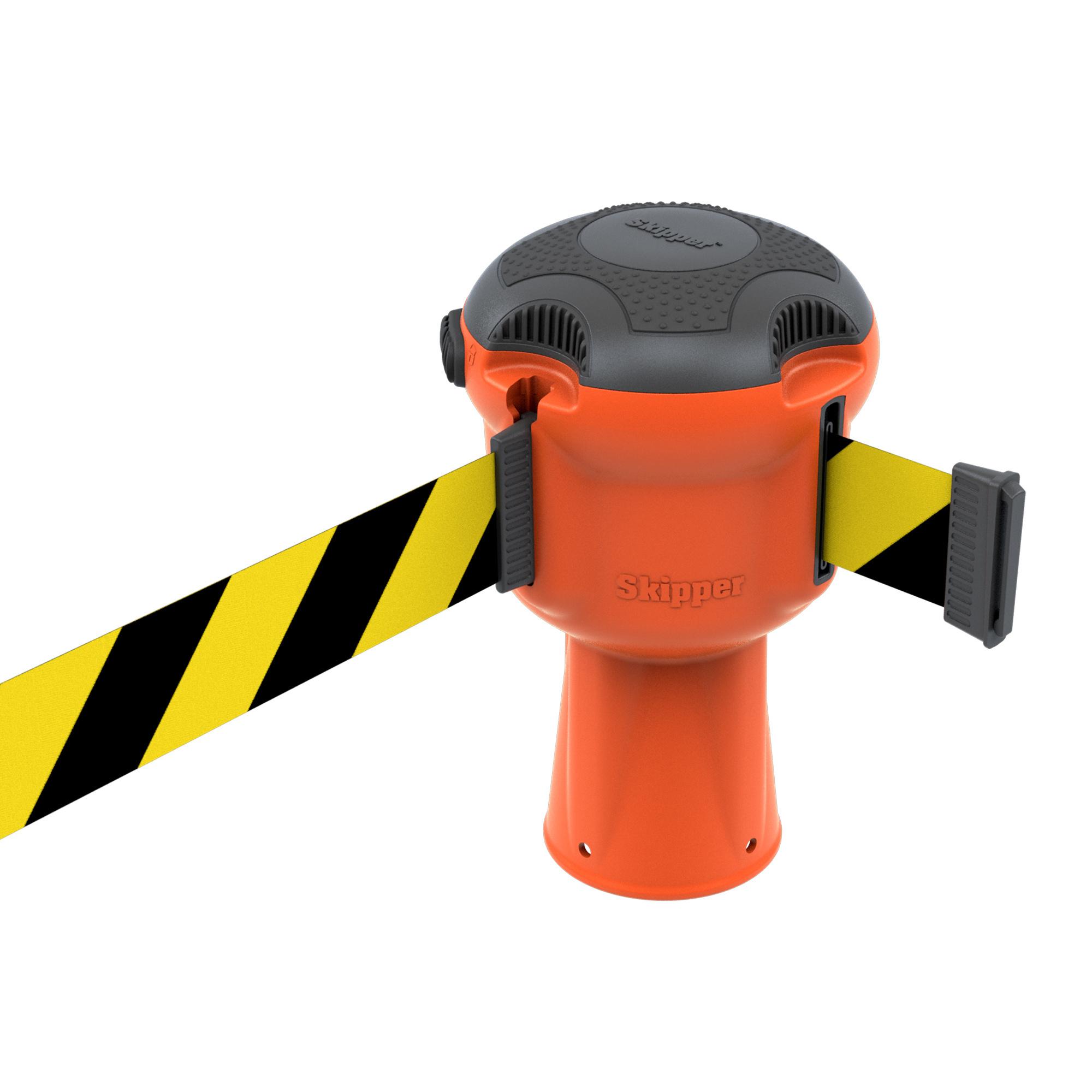 SKIPPER SKIPPER barrier belt unit  with 9 meters yellow/black tape