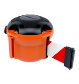 SKIPPER SKIPPER XS barrier belt unit with 9 meters of red/white retractable barrier tape