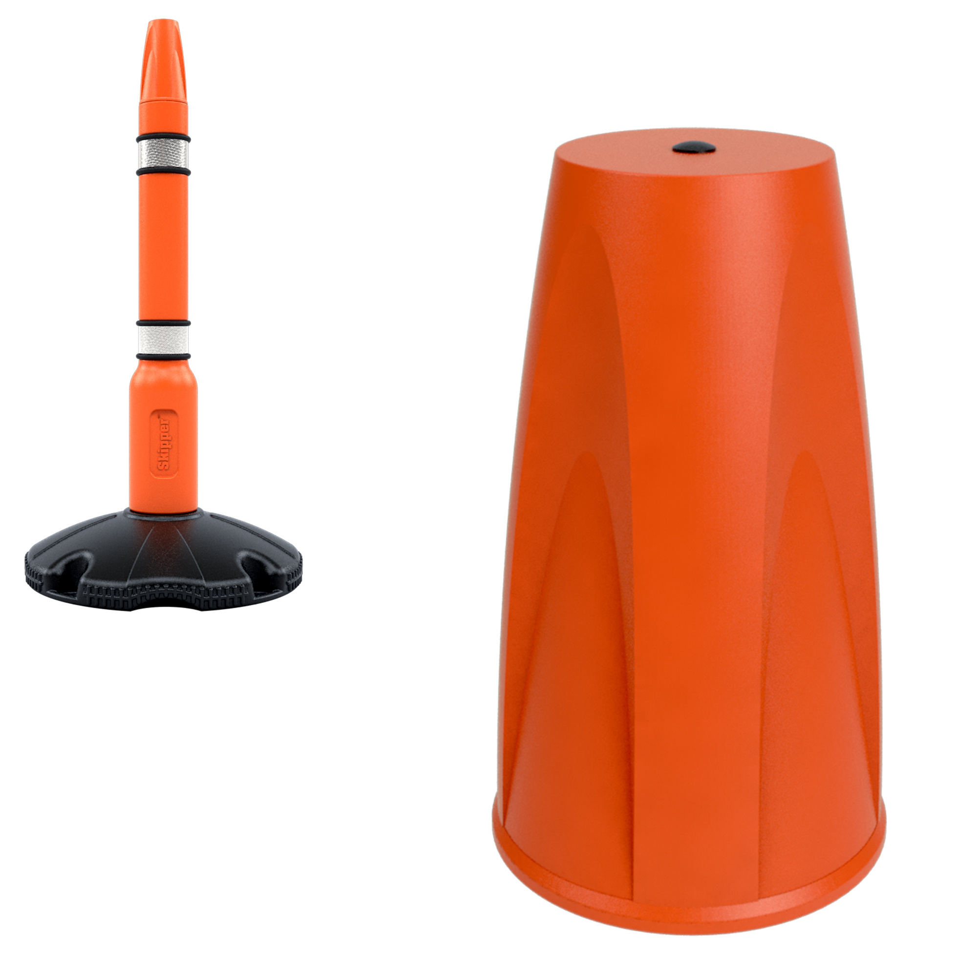 SKIPPER Eindkap voor SKIPPER afzetpaal - oranje