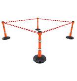 SKIPPER SKIPPER afzetpaal met voetplaat - oranje