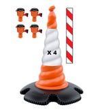 SKIPPER Skipper cone set 81 m2 with Skipper cones and Skipper barrier belt units