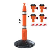 SKIPPER Skipper barrier post kit 81 m2 with Skipperbarrier posts and Skipper barrier belt units