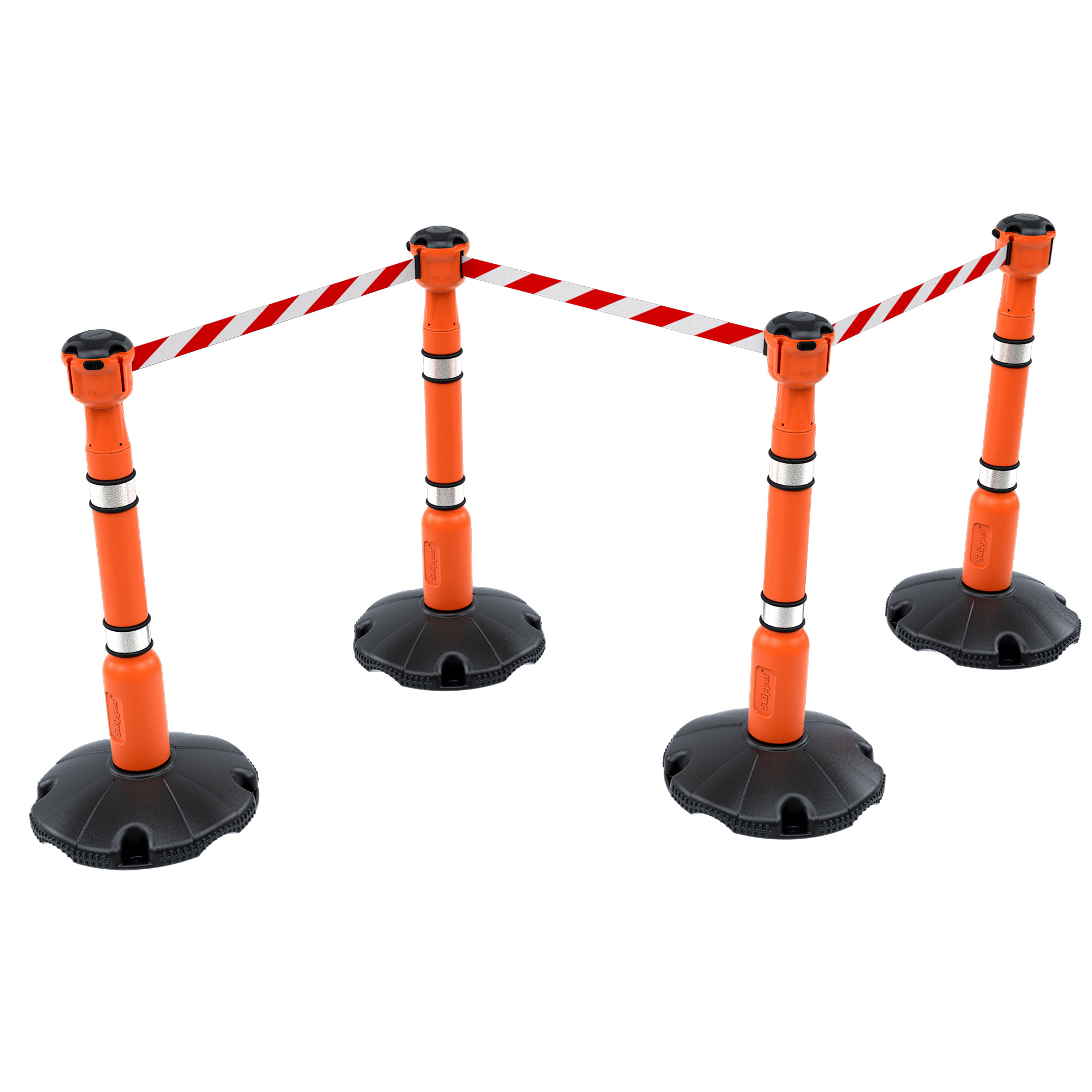SKIPPER Skipper set of retractable  barrier posts - crowd control