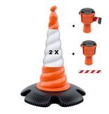 SKIPPER Skipper set of retractable barrier cones - crowd control