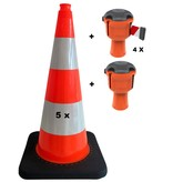 SKIPPER Skipper budget set retractable barrier cones - crowd control