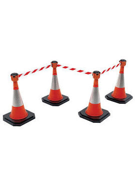 SKIPPER BIG set Skipper retractable barrier cones