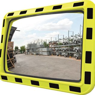 Mirror for industry (Rectangle) 600x800 mm - yellow/black frame