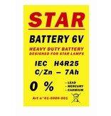 Battery 4R25 6V STAR for warning lights