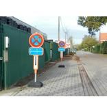 Tijdelijk parkeerverbod - HDPE + reflecterende film