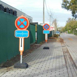 Temporarily non parking sign - HDPE + reflective film