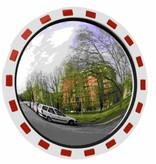 Miroir de traffic Rond 600 mm rouge/blanc