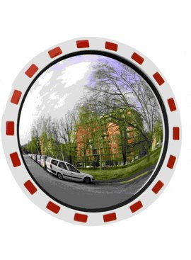 Traffic mirror Round 600 mm red/white