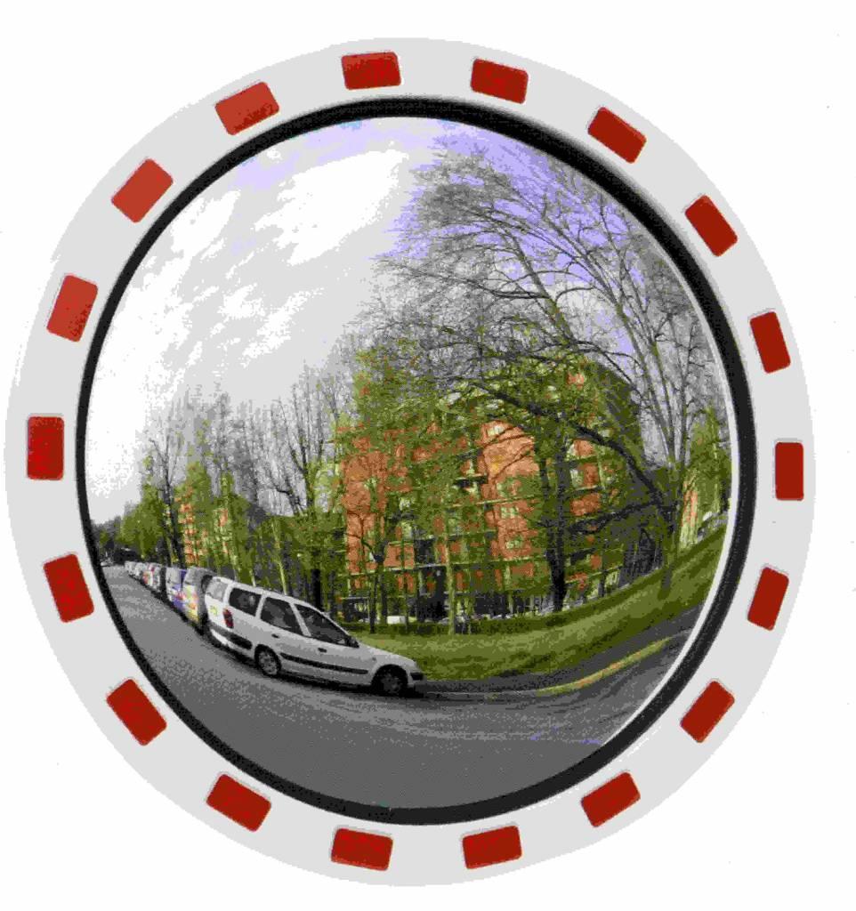Traffic mirror Round 600 mm red/white