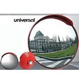 Verkeersspiegel universeel (Rond) 600 mm - rode kader