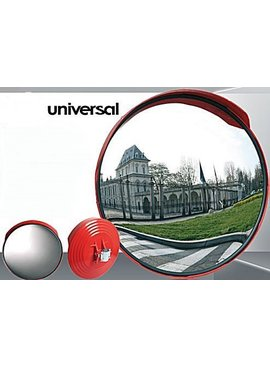 Traffic mirror universal (Round) 600 mm - red frame
