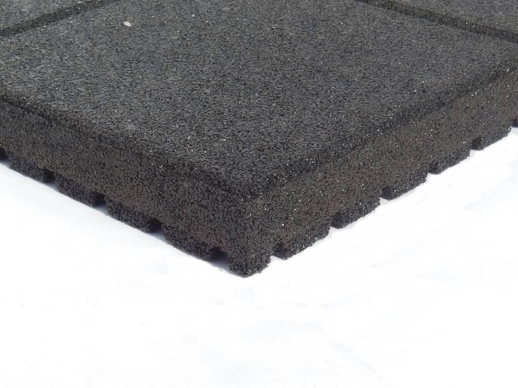 RUBBEREN VEILIGHEIDSTEGEL 60 x 60 x 5.5 cm zwart