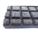 RUBBER SAFETY TILE 60 x 60 x 5.5 cm black
