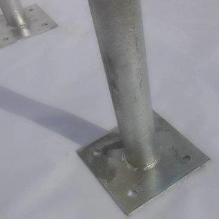 Fietsbeugel op voetplaten 600 x 650 mm